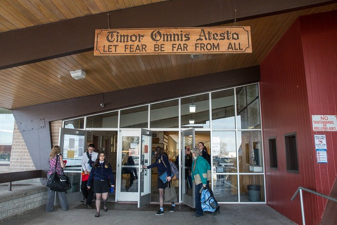 """At the entrance of the Burns High School gymnasium, a sign tells visitors to, """"Let fear be far from all."""" Yet in the small eastern Oregon city, the armed occupation of the Malheur National Wildlife Refuge instilled fear during its 41-day run, emotions that boiled over even inside the gymnasium, where two community meetings were held."""