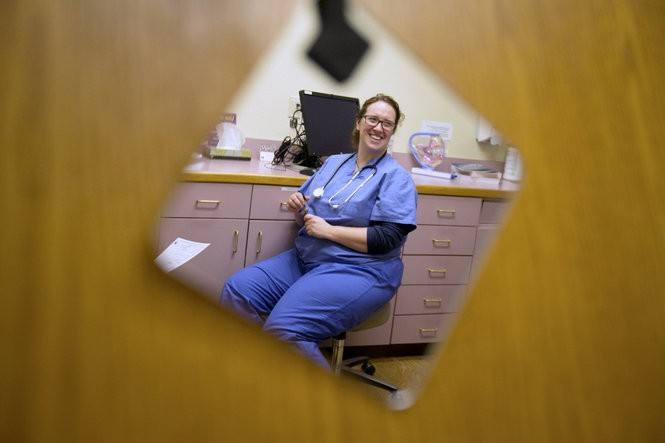 """A large portion of gynecologist Megan Bird's client base is transgender. """"Usually, our sex corresponds to our gender,"""" said Bird, now the medical director of Legacy Medical Group's transgender health program. """"People who are male-bodied feel like men. People who are female-bodied feel like women. That's not always the case. That disconnect can cause a lot of discomfort and anxiety and depression."""" Kristyna Wentz-Graff / Staff"""