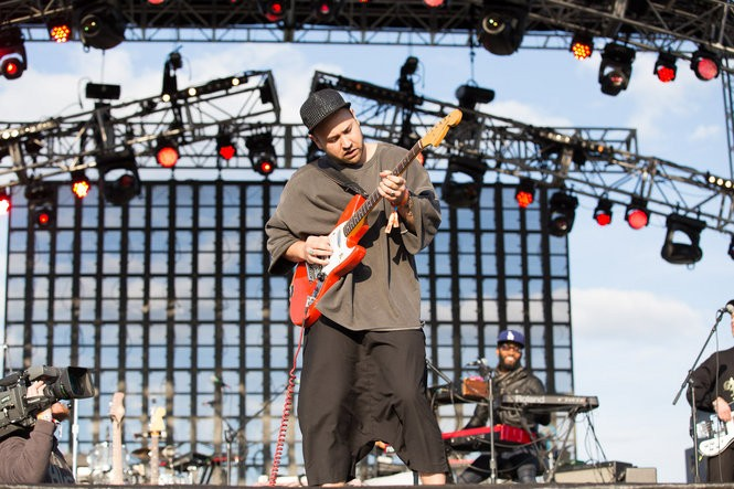 Portland band Unknown Mortal Orchestra performs on the Bigfoot Stage at the Sasquatch! music festival in the Gorge Amphitheatre in George, Washington, on May 27, 2016. (David Greenwald/The Oregonian)