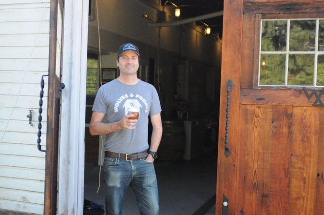 Christian DeBenedetti at Wolves & People, a farmhouse brewery in an actual Newberg farm.