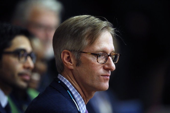 Mayor Ted Wheeler during his ceremonial inauguration at Jason Lee Elementary in Northeast Portland on Jan. 4, 2016. Beth Nakamura/Staff