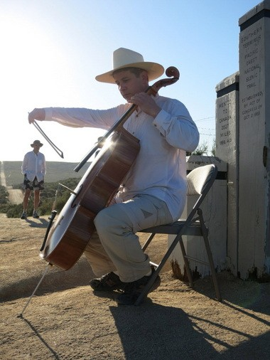 Mark Votapek began his trek with a concert at the southern terminus of the Pacific Crest Trail in Campo, Calif., on the border of Mexico.