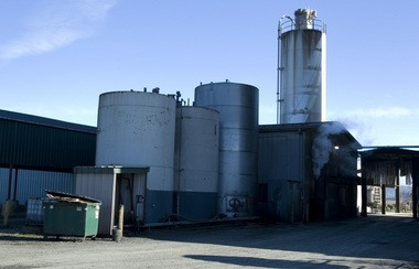 This Feb. 1, 2012, file photo, shows the Willamette Biomass Processors plant in Rickreall, Ore., which crushes canola and other seeds to make biofuel and/or food grade canola oil.