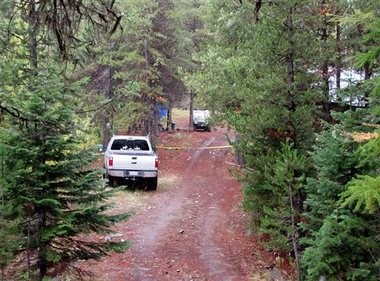 This undated photo shows the deer-hunting camp area. Officials haven't commented on any possible motive for the slayings.