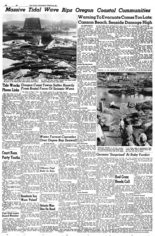 The Oregonian published several stories about the impact of the tsunami that hit the Oregon and northern California coast after a giant earthquake in Alaska on March 27, 1964.