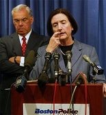 Kathleen O'Toole is pictured in a file photo from 2004 when she was Boston's police commissioner.