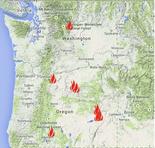 Lightning strikes have ignited new, large fires in Oregon and Washington.
