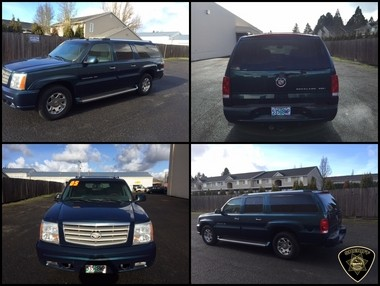 Bobbi and Zackerie House are reportedly driving this 2005 Cadillac Escalade, with Oregon license plate 535BWP.