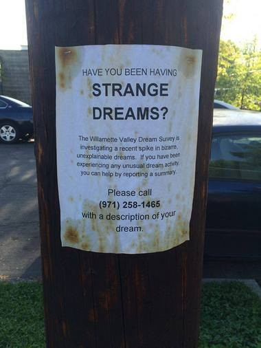 Strange poster found in Portland is generating discussion on Reddit.