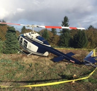 """At about 2:24 p.m. on Nov. 2, an Applebee Aviation helicopter had """"some sort of engine failure,"""" according to Polk County Sheriff's Office. The pilot lost control of the aircraft, which then spun around as it descended to the ground."""