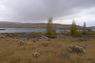 Nearly 20 acres large, the Threemile Canyon site in Oregon is land set aside for tribal fishing crews on the Columbia River. Solar panels provide the only electricity at the site.