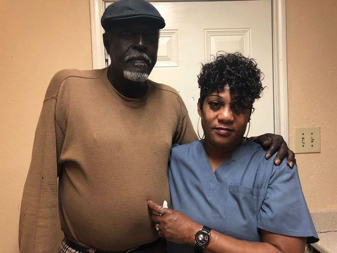 Sherry Davis and Clarence Celestine.