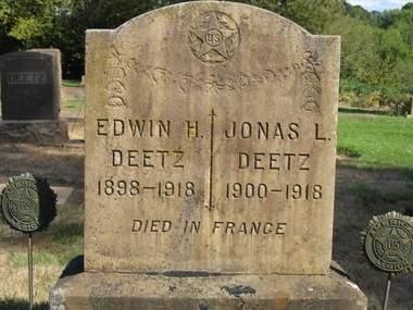 Grave of Edwin and Jonas Deetz at the Zion Mennonite Cemetery in Hubbard. (Michael Burley, Special to The Oregonian/OregonLive)