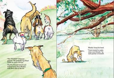 Muttley, a shelter dog, is shunned by the purebred pups at the dog park.