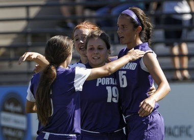 Portland center back Amanda Frisbie (15) has helped the Pilots return to the nation's top 10,