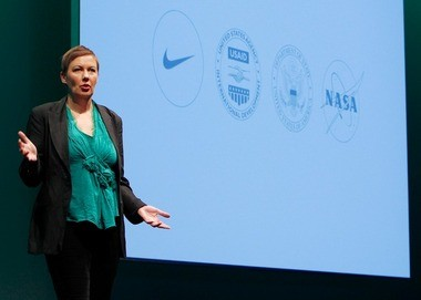 Hannah Jones, Nike vice president of sustainable business and innovation, was one of the speakers at LAUNCH.