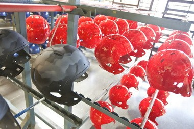 West Virginia and Ohio State were among the first recipients of HydroGraphics-coated helmets.