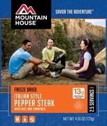 New Mountain House packaging.
