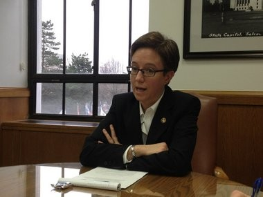 House Speaker Tina Kotek, D-Portland, says the state can pay in the short term for $450 million in debt to replace the Interstate 5 bridge in Portland.