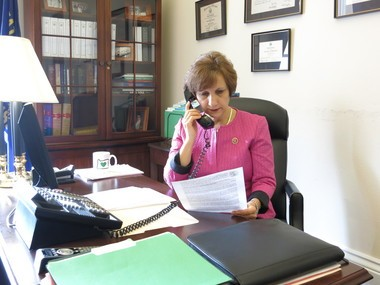 Rep. Suzanne Bonamici works at her office in Washington, D.C., in this photo provided by her staff.