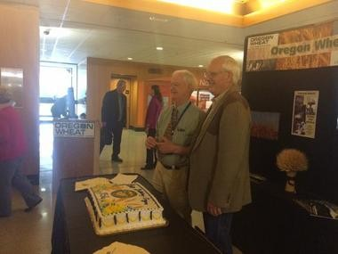 Today of all days, Senate President Peter Courtney celebrates Oregon's 156th birthday, cake and all.