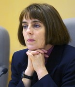 Though Kate Brown, shown in 2005, was the Senate's longtime majority leader, she grew close enough with her Republican counterpart, Sen. Ted Ferrioli of John Day, that he attended her wedding.