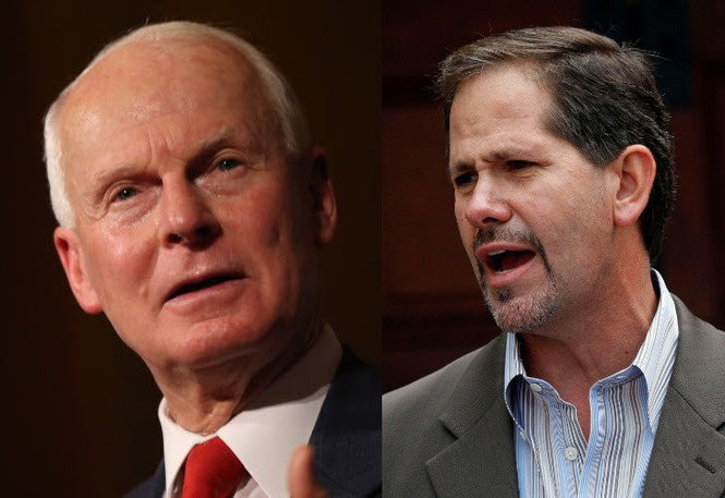 Secretary of State Dennis Richardson, left, and Rep. Knute Buehler, of Bend, are possible Republican candidates looking to challenge Gov. Kate Brown for her seat in 2018.