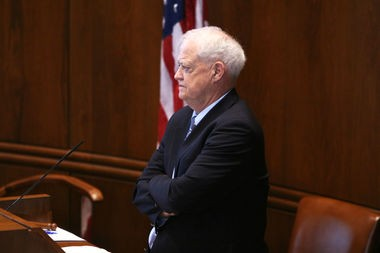 Senate President Peter Courtney, D-Salem, pictured on Friday, July 7, 2017, the day the Legislature adjourned its annual session.