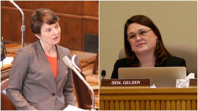 Sen. Elizabeth Steiner Hayward, left, and Sen. Sara Gelser.