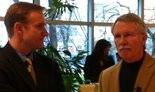 Mike Bonetto (left), with Gov. John Kitzhaber shortly after his 2010 election.