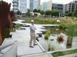 Portland Parks & Recreation Director Mike Abbate at Tanner Springs Park.