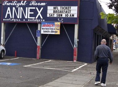 The Twilight Room Annex, formerly known as the Portsmouth Club, at 5262 N Lombard is being investigated for its treatment of transgender customers.