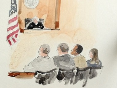 The courtroom scene Thursday as a federal court jury in Portland delivered a guilty verdict against Portland bomb plot suspect Mohamed Mohamud.