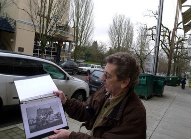 Mike Ryerson carries a binder of images of what Northwest Portland used to look like on his tours of Nob Hill. The Kitchen Kaboodle store on Northwest 23rd and Flanders used to be the mansion, pictured, of a powerful Portlander.