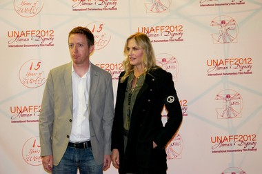 Craig Rosebraugh, director and co-writer of 'Greedy Lying Bastards,' was joined by executive producer Daryl Hannah at last yearâs United Nations Film Festival in Palo Alto, Calif.