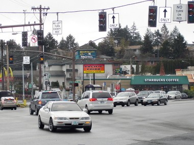 Portland's proposed Barbur Concept Plan calls for a West Portland Town Center along this section of Southwest Barbur Boulevard near its intersection with Capitol Highway.