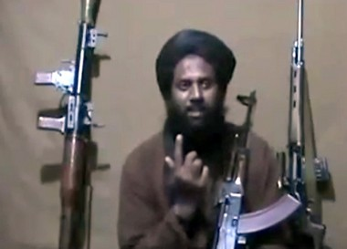 Ali Jaleel, also known as Mus'ab Sayyid, in a video crediting him for a suicide attack in Lahore, Pakistan, that killed roughly 30 people and wounded hundreds more.