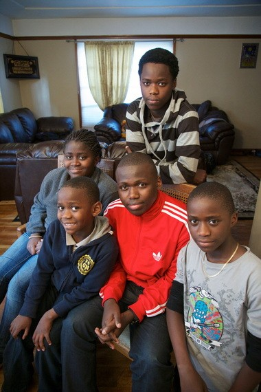 "The youth in their East Portland home. "" 'Go to school,' she kept telling us,"" Hussein said of his mother."