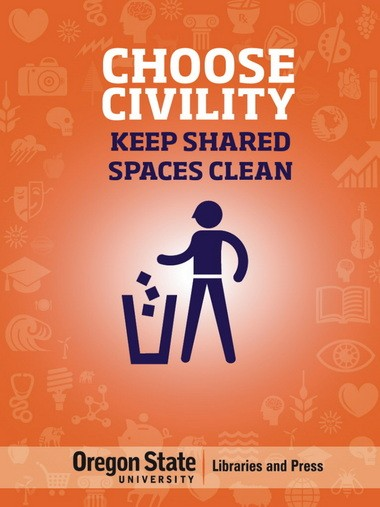 A poster designed for the OSU campaign to promote a civil environment.