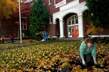 Volunteers cleaned up Rose City Park's building in 2009 to welcome Marysville students displaced by a fire. Next year, Access Academy will relocate to the Northeast Portland building to accommodate its growing program.