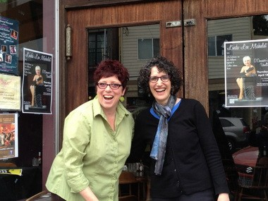 """Joanie Quinn (left) and Betsy Kauffman founded and regularly perform in """"Spilt Milk,"""" a monthly comedy showcase in Multnomah Village."""