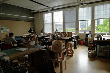 A Portland State University architecture student studies amid student-built structures. The program just earned its accreditation, giving University of Oregon its only competition in the state by making PSU architecture graduates eligible to become licensed.