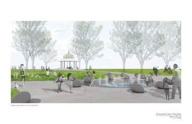 Dawson Park water feature rendering