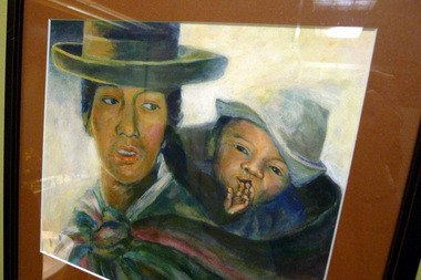 Kathy Albert, wife of Dr. Thomas Albert who founded Portland-based FACES Foundation, which performs cleft palate surgery in Peru, painted this portrait from a picture Dr. Albert took of a patient in Peru. The portrait now hangs in Andina, which hosts FACES annual fundraiser.
