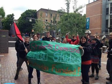 "Portland State University students in May rallied twice, marching into the provost's office, in support of preserving the Chiron Studies program, and to voice concerns about ""behind closed door decision-making."""