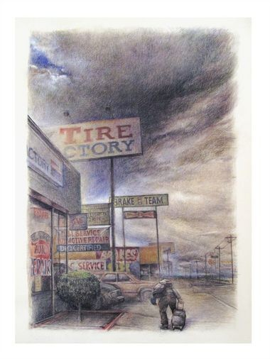"""Debra Beers' """"82nd and Boise St."""" is part of the Visual Chronicle, which has a collection of 303 works by 179 different artists."""