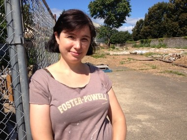 Vicki Wilson and her neighbors have begun to transform a vacant lot at Southeast 62nd Avenue and Powell Boulevard into a community garden. But the Foster-Powell gardeners can't break up the asphalt for environmental reasons: The lot used to house a gas station.
