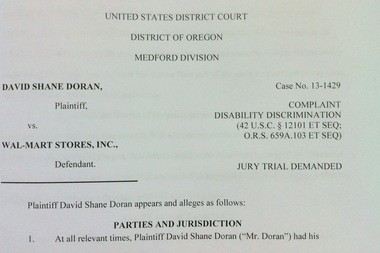 David Shane Doran sued his former employer, Wal-Mart Stores Inc., alleging that the company used his past drug addiction to fire him under a new policy.