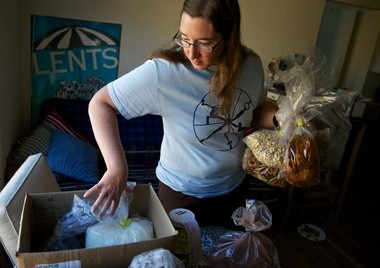 Laura Bouma coordinates a food-buying club in Lents. It's a grocery option for residents who want to eat healthy, support local food providers and save money by joining with other people to buy in bulk.