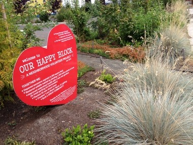 Depave, a Portland non-profit that helps community groups replace asphalt with greenspace, joined with neighbors to transform the parking lot at Calvary Lutheran Church at 8026 S.E. Woodstock Blvd. Depave is working on three similar projects in Southeast Portland this year, with another scheduled for 2014.